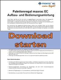 Download der maxrac-Aufbau- u. Bedienungsanleitung
